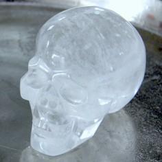Kristallschädel aus Bergkristall 820 g