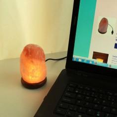 Salzlampe Felsen LED-Lampe mit USB-Stecker
