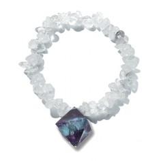 Fluorit-Oktaeder Weisheit - Kristall-Harmonie-Band