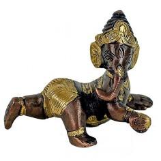 Baby Ganesha 10 cm Messing & Kupfer