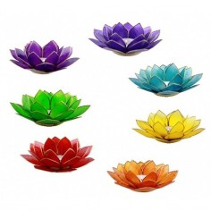 Teelichthalter Chakra Lotus - Set