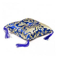Kissen für Klangschale - blau  21 cm