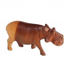 Nilpferd aus Holz