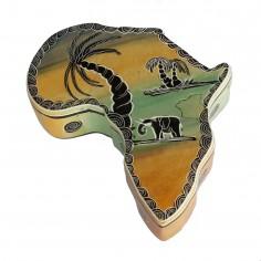 Schatulle Afrika aus Speckstein
