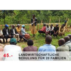 Landwirtschaftliche Schulung für 20 Bauern