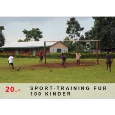 Sporttraining für 100 Kinder