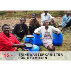 Trinkwasserkanister für 8 Familien
