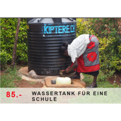 Wassertank für eine Schule