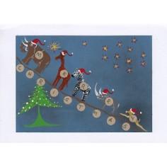 Weihnachtskarte Tiere Afrikas