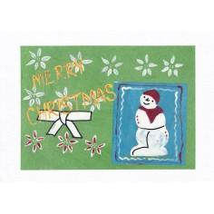 Weihnachtskarte Schneemann...