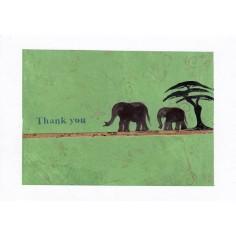 Neutrale Karte Elefanten