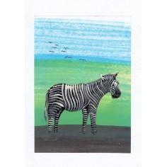 Neutrale Karte Zebra