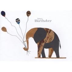 Geburtstags Karte Elefant mit Ballonen