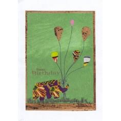 Geburtstags Karte bunter Elefant