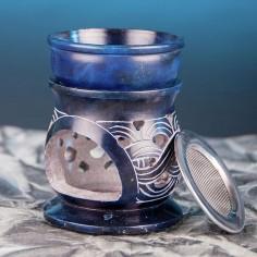 Keltischer Knoten Speckstein 7cm Siebgefäss und Aromalampe