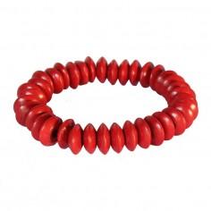 Armband aus Holz rot