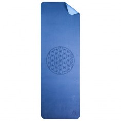 Yoga Matte Blume des Lebens - blau