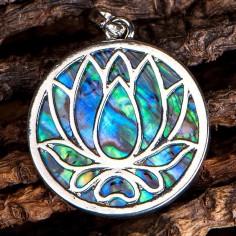 Lotus Anhänger Paua Muschel