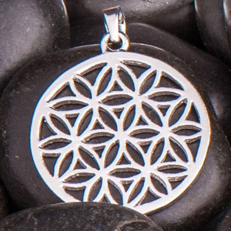 Anhänger Blume des Lebens Silber 25 mm