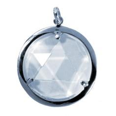 Bergkristall-Medaillon