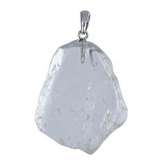 Anhänger Scheibe Bergkristall
