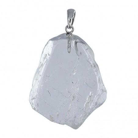 Anhänger Scheibe Bergkristall mit Silberöse