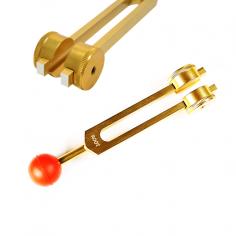 Stimmgabel goldfarben 1. Chakra
