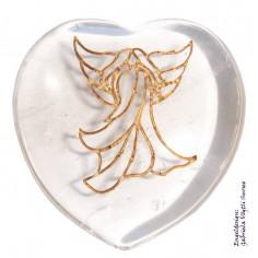 Herz 35mm Bergkristall mit Engel