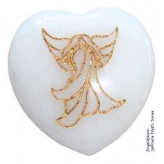 Herz 35mm Jade weiss mit Engel