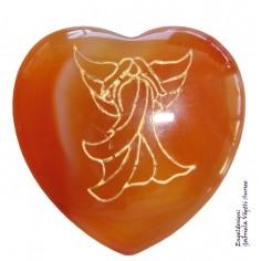Herz 35mm Jaspis rot mit Engel