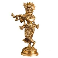 Krishna 18cm Messing