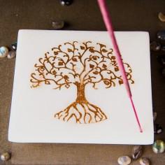 Marmor-Halter - goldener Lebensbaum