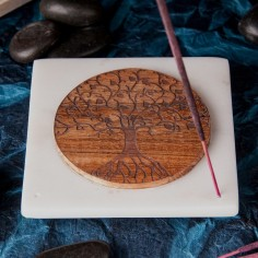 Marmor Halter Lebensbaum aus Holz