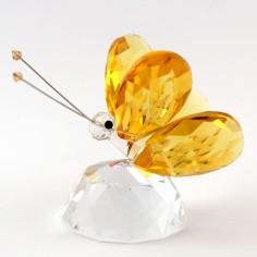 Schmetterling auf Halbkugel gelb