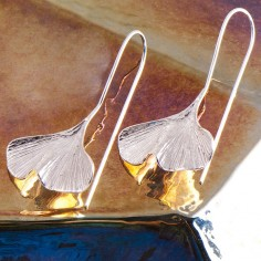 Ohrringe Ginkgo Blatt