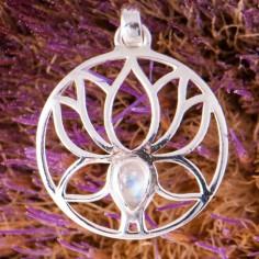 Anhänger Lotus mit Mondstein