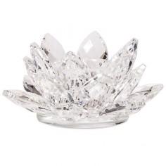 Kerzenhalter Kristall Lotus für Stabkerzen