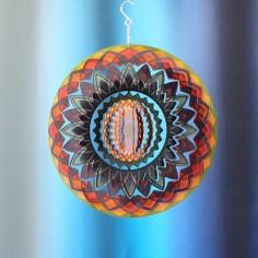 Mandala Spirale Regenbogen