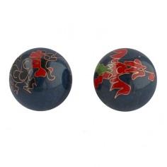 Qi Gong Kugeln 40mm Drache und Phoenix blau
