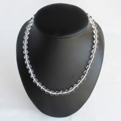 Halskette Bergkristall Kugeln 8mm