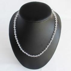 Halskette Bergkristall Kugeln 6mm