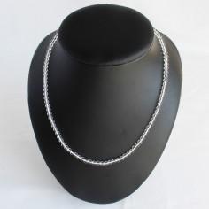 Halskette Bergkristall Kugeln 4mm