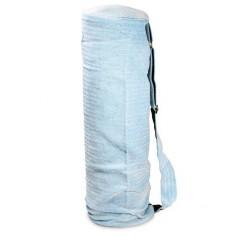 Yoga Tasche aus Baumwolle türkis