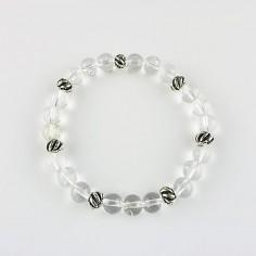 Armband Bergkristall 8mm Kugeln und Beads