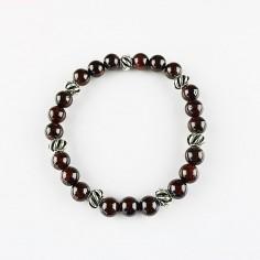 Armband Granat 8mm Kugeln und Beads